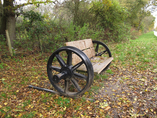 Axle bench on the Cuckoo Trail