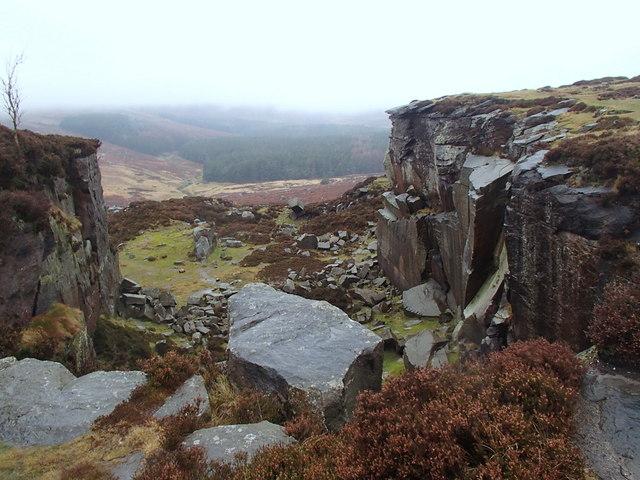 Rock formation on Burbage Moor