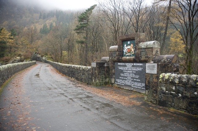 Plaque on Thirlmere Dam