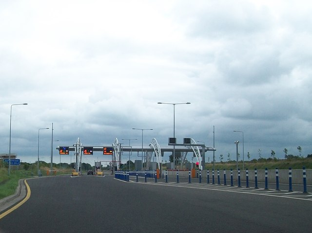 The Grange Toll Plaza on the south lane of the M3