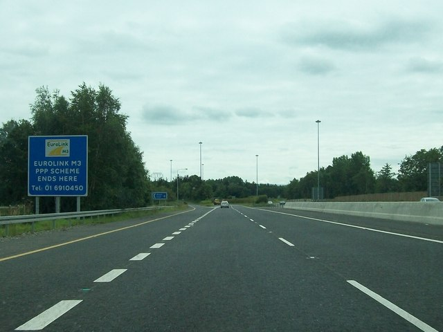 Approaching Junction 4 on the M3 near Clonee