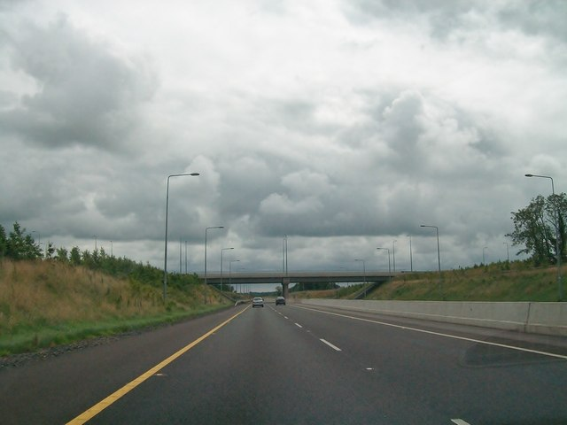 The overpass at Junction 10 of the M3 near Kells