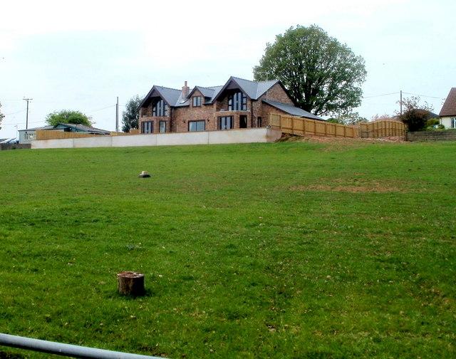Recently-built house near Cuckoo's Row, Raglan