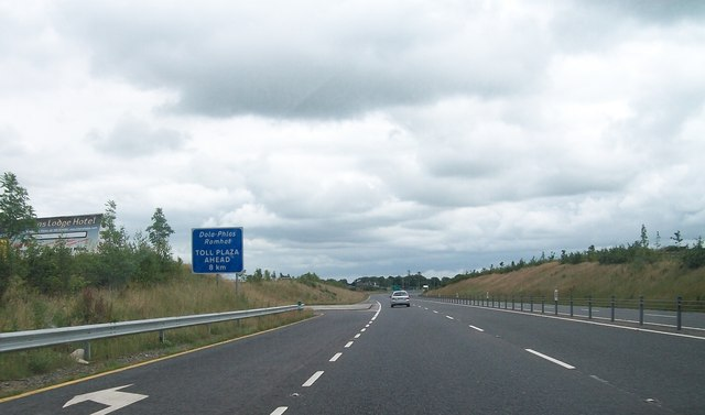 View east along the N3 at Calliaghstown