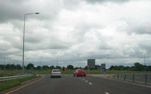 The roundabout at the northern end of the M3
