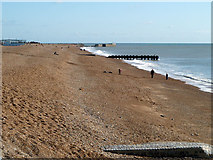 TQ8109 : Beach at Hastings by Robin Webster