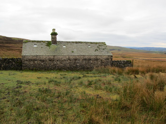 Shooting Lodge at the base of Fountains Fell