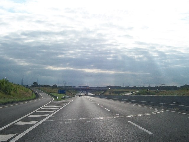 View west towards Junction 7 on the M3 at Blundelstown