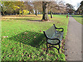 TQ4474 : Bench with shadow by Stephen Craven