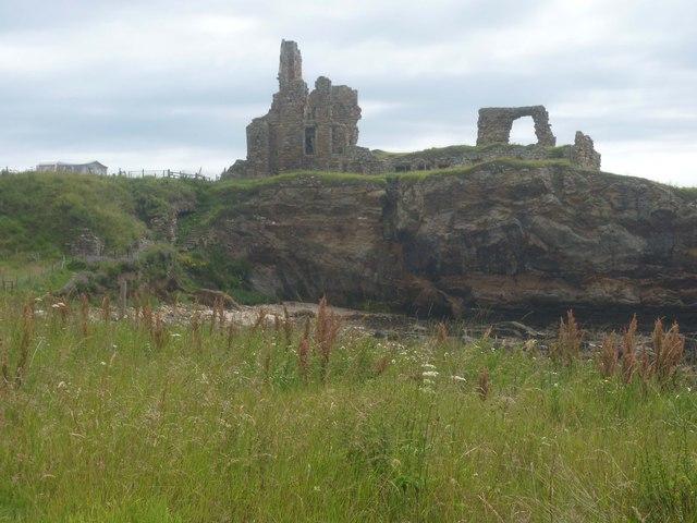 Newark Castle remains