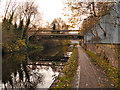 SJ8698 : Pipe bridge, Ashton Canal by David Dixon