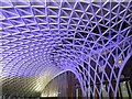 TQ3083 : Kings Cross concourse roof by Steve  Fareham