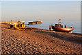 TQ8209 : Tow up Pelham Beach by Oast House Archive