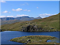 NY4114 : Promontory into Angle Tarn by Trevor Littlewood