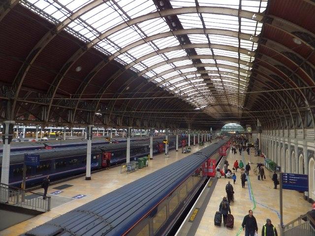 Paddington station from footbridge