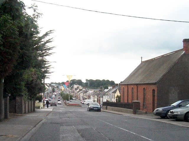 Entering Main Street, Kingscourt along Dublin Road