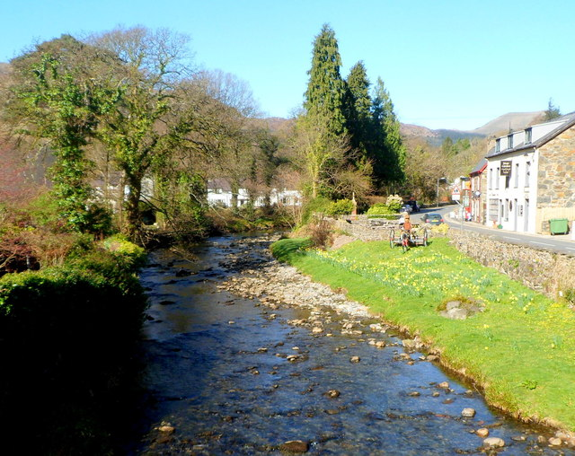 Afon Colwyn upstream from Pont Beddgelert, Beddgelert