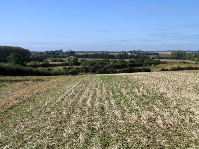 Nene valley meadows from near Wansford Road, Elton, Cambs