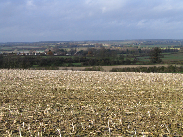 View towards Elton, Cambs, from the east