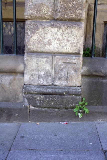 Benchmark on #98 Pilgrim Street