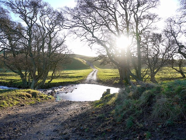 Ford on the old road to Wooler
