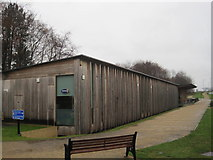 NZ3428 : Visitor Centre and Tea Room , Hardwick Hall Country Park by Les Hull