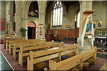 TQ1472 : All Saints, Campbell Road - South arcade by John Salmon