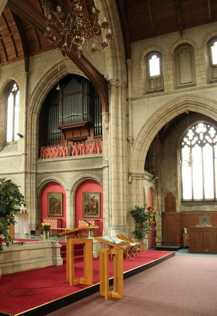 All Saints, Campbell Road - Organ loft