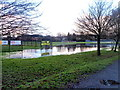 ST3089 : Flooded part of Kimberley Park, Newport by Jaggery