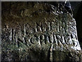 SD3378 : Old graffiti, Capeshead Cave by Karl and Ali