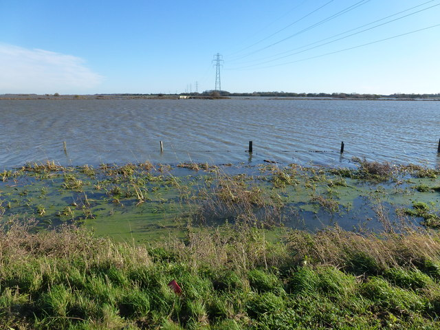 Whittlesey Wash under water - The Nene Washes