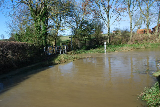Walcot Ford in Flood