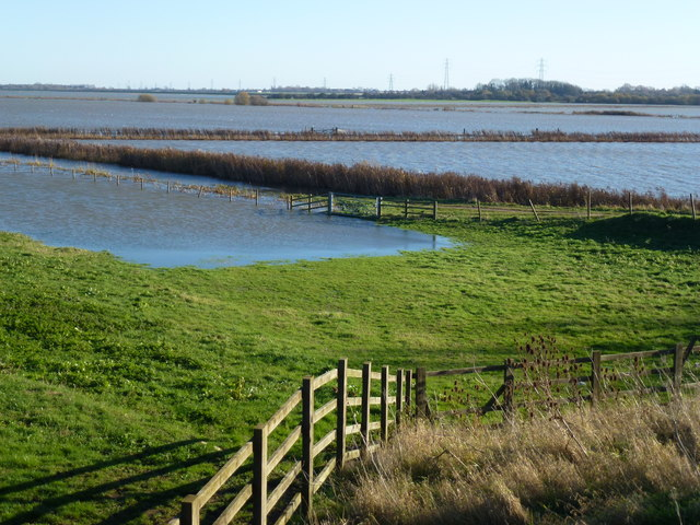 Fields of water on Whittlesey Wash - The Nene Washes