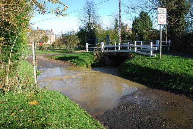Aslackby Ford in Flood