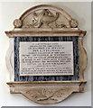 TQ1673 : St Mary, Church Street, Twickenham - Wall monument by John Salmon