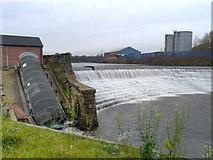 SD7909 : River Irwell, Bealey's Weir by David Dixon