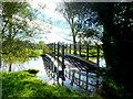 ST9103 : Footbridge at Keynston Mill by Nigel Mykura