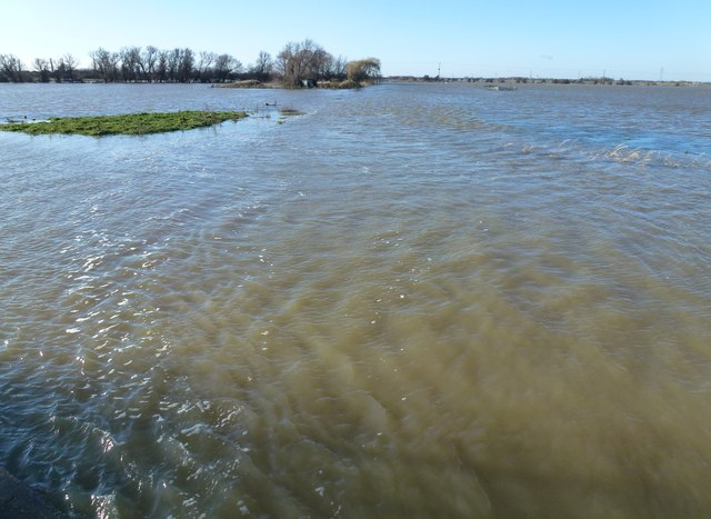 Morton's Leam lost in floods on Whittlesey Wash - The Nene Washes