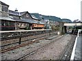 SH7956 : Two platforms and two sets of track, Betws y Coed by Christine Johnstone