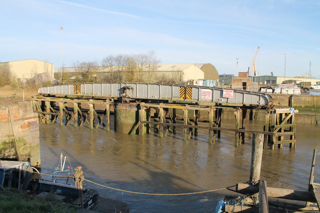 Railway Swing Bridge over River Witham