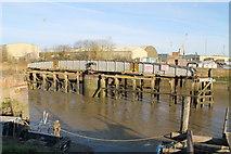 TF3243 : Railway Swing Bridge over River Witham by J.Hannan-Briggs