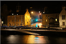 HU4741 : Small boat harbour, Lerwick, at night by Mike Pennington