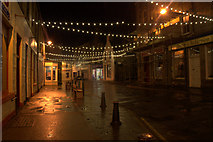HU4741 : Christmas lights at the north end of Commercial Street, Lerwick by Mike Pennington
