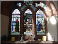 SD2475 : St Peter's Church, Lindal in Furness, Stained glass window by Alexander P Kapp