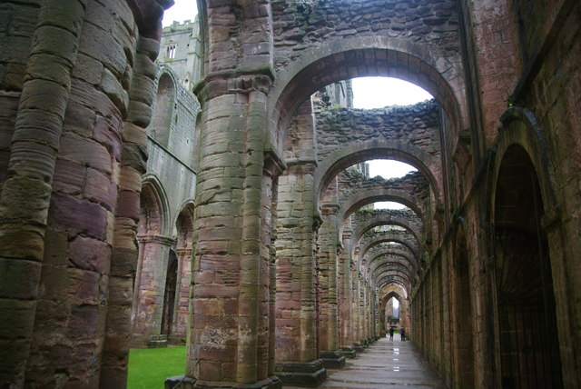 Side aisle in Fountains Abbey