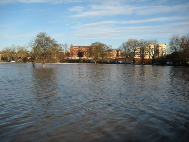 Flooded Worcester Racecourse