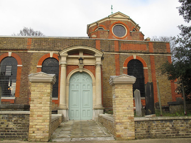 St Anne's church, Kew: south door