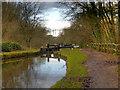 SJ9689 : Peak Forest Canal, Lock#3 by David Dixon