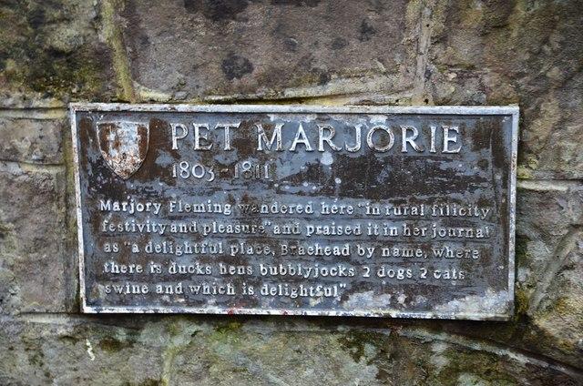 Plaque for Pet Marjorie