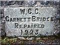 SD5299 : Commemorative stone, Garnett Bridge by Karl and Ali
